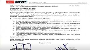 CHP, Corona virüsü dolayısıyla örgütlerini kapalı tutacak