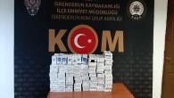 700 Adet Gümrük kaçağı sigara ele geçirildi