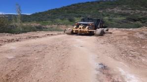 Hatay Büyükşehir Belediyesinden Çardak Yayla yolunda stabilize çalışması