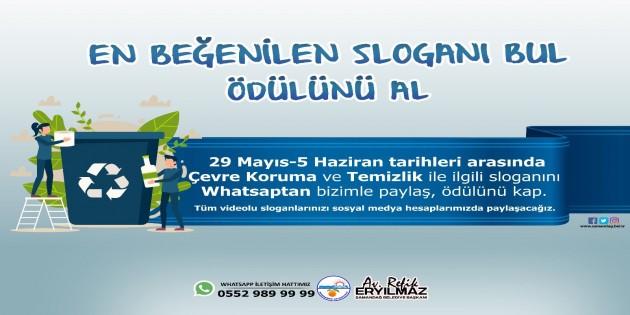 """Samandağ Belediyesinden """"Çevre Koruma"""" ve """"Temizlik"""" konulu slogan yarışması"""
