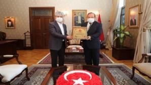 Vali Doğan, Emekliye Ayrılan Antakya Kaymakamı Orhan Mardinli'yi Kabul Etti