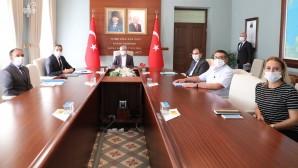 Katı Atık Bertaraf ve Düzenli Depolama Alanı Toplantısı Vali Rahmi Doğan'ın başkanlığında yapıldı