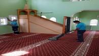 İbadethanelerde temizlik çalışmaları devam ediyor