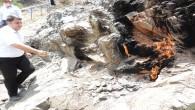 Amanos Zirvesinde yanan kayalar