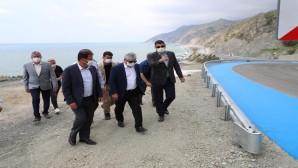 Vali Rahmi Doğan, Samandağ-Arsuz sahil yolunda incelemelerde bulundu