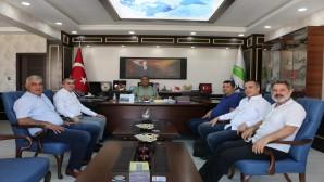 Dörtyol'lu Muhtarlar'dan HAT SU Genel Müdürü Çaparali'ye ziyaret
