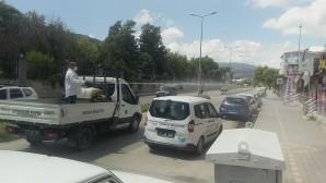 Antakya Belediyesi şehir genelinde dezenfekte çalışmalarını sürdürüyor