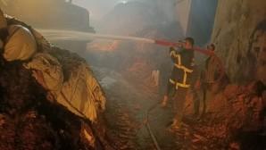 Kırıkhan'da çıkan yangına hızlı müdahale