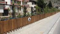 Hatay Büyükşehir Belediyesinden dere kenarına çiçeklik