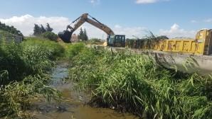 Hatay Büyükşehir Belediyesinden kanal temizliğine devam