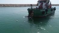 Hatay Büyükşehir Belediyesi'nden  Deniz ve kıyılardaki  temizlik çalışmalarına  devam
