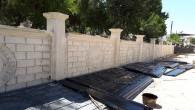 Hatay Büyükşehir Belediyesi'nden mezarlıklara perde duvar