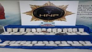 Kırıkhan-Reyhanlı yol ayırımında kontrol: 31.560 gram takoz esrar yakalandı