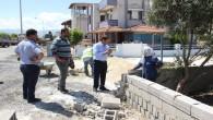 Başkan Refik Eryılmaz, Yaşar Kemal caddesinde incelemelerde bulundu