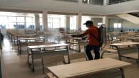 Samandağ Belediyesi, LGS öncesinde okulları  dezenfekte etti