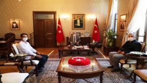 Vali Doğan'a Anadolu Ajansı Bölge Müdüründen Nezaket Ziyareti