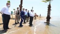 Vali Rahmi Doğan Burnaz Plajı'nda İncelemelerde Bulundu