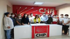 CHP'li kadınlardan Kadın cinayetlerine tepki