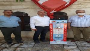 BASK onursal başkanı Metin Yılmaz'dan AGC'ye dezenfeksiyon makinası