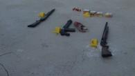Çocukların bisiklet tartışmasından dolayı birbirlerine ateş edenlerin evlerinden 9 tüfek ele geçirildi