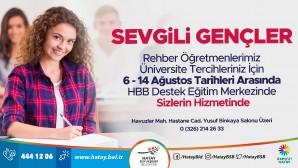 Hatay Büyükşehir Belediyesinden üniversite adaylarına ücretsiz tercih danışmanlığı