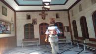 Antakya Belediyesi Kiliseleri dezenfekte ediyor