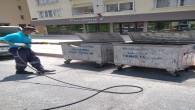 Antakya Belediyesi Konteynerleri dezenfekte etmeye devam ediyor
