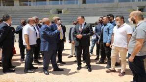 Türkiye Futbol Federasyonu Başkanı Nihat Özdemir Yeni stadı inceledi