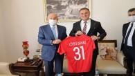 Başkan Savaş, Türkiye Futbol Federasyonu Başkanı Nihat Özdemir'i ağırladı