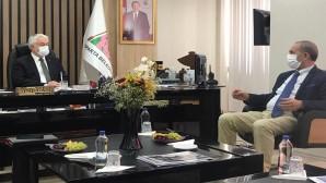 Türkiye Gazeteciler Federasyonu  heyeti, Isparta Belediye Başkanı Şükrü Başdeğirmen'i ziyaret etti.