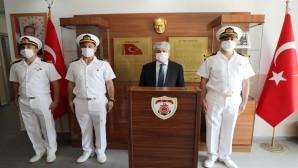 Vali Rahmi Doğan'dan Sahil Güvenlik Karakolu'na Ziyaret
