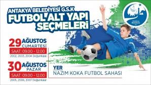 Antakya Belediyesi Gençlik Spor Kulübü yeni futbolcularını arıyor