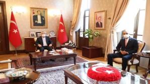 Başkan Güzel,  Vali Doğan'a Defne'ye hastane yapılması ziyareti