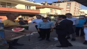 Antakya CHP ilçe örgütü Milletvekili Serkan Topal'la Serinyol esnafını ziyaret etti