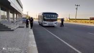 Hatay Büyükşehir Belediye Zabıtasından  otobüslerde korona virüs denetimi