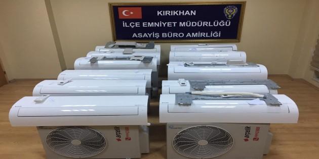 TİGEM'in çalınan 12 kliması yakalandı