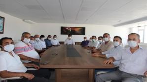 Muhtarlardan HAT SU Genel Müdürü Polat'a tebrik ziyareti