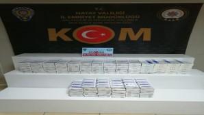 Antakya'daki uygulamada 990 paket kaçak sigara yakalandı
