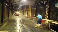 Antakya Belediyesi Hürriyet  Caddesi ve uzun çarşıyı yıkadı