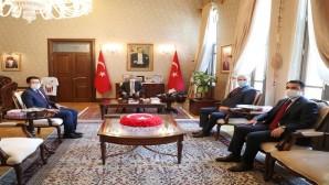 Vali Rahmi Doğan, Hatay'a  Yeni Atanan Kaymakamları Kabul Etti