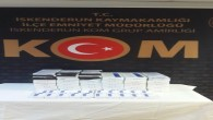 İskenderun'da 350 paket gümrük kaçağı sigara yakalandı