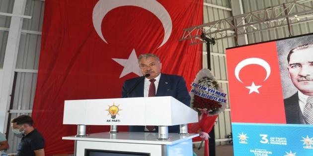 Başkan Yılmaz AK Parti İlçe kongresinde konuştu: Birlik, beraberlik ve coşku içerisinde inandığımız yolda yürümeye devam ediyoruz