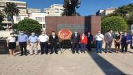 Hatay CHP'den Atatürk anıtına çelenk