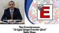 Dr. Mustafa Hambolat: Eczacılarımız, vatandaşlara danışmanlık hizmeti, sağlıklı yaşam önerileri hizmetinde bulunuyor
