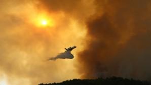 Batıayaz'ındaki  orman yangınına havadan müdahale tekrar başladı