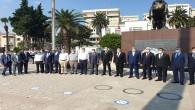 HESOB'tan Atatürk anıtına çelenk