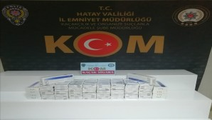 Antakya'da 500 paket kaçak sigara yakalandı