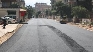 Antakya Belediyesi İpek sokakları asfaltlamaya devam ediyor