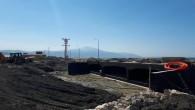 Samandağ'daki köprüde çalışmalar devam ediyor