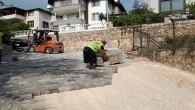 Hatay Büyükşehir Belediyesinden Defne Turunçlu'ya Parke yol çalışması